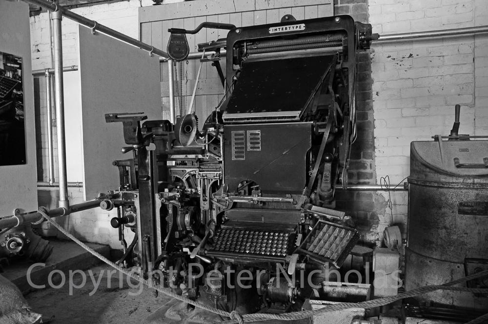 Carmarthen Journal printing press